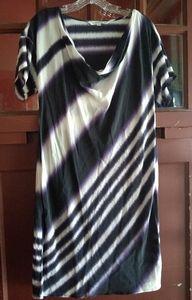 Trina Turk Ink Stripe Ikat dress